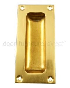 Flush Pull Polished Brass 3.5in (89mm)