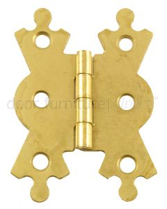 Fancy Hinge 2.1/8in Electro Brassed in Pairs