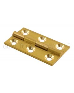 Brass Butt Hinges 1.1/2x7/8in (38x22mm) in Pairs