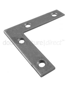 Flat Corner Plate Steel Self Colour