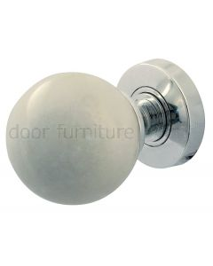 White Marble Mortice Door Knobs 60mm