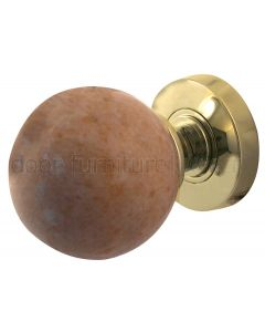 Sunset Red Marble Mortice Door Knobs 60mm