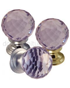 Purple Cut Glass Cupboard Knobs