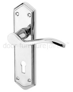 Paris Polished Chrome Lock Handles 168x47mm