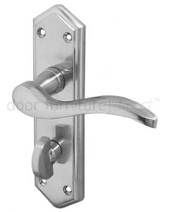 Paris Satin Chrome Bathroom Handles 168x47mm