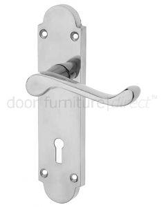 Epsom Polished Chrome Lock Handles 169x40mm