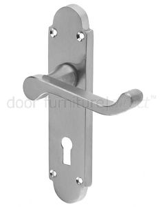 Epsom Satin Chrome Lock Handles 169x40mm