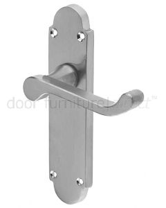 Epsom Satin Chrome Latch Handles 169x40mm