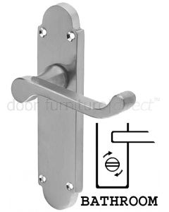 Epsom Satin Chrome Bathroom Handles 169x40mm