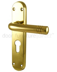 Porto Polished Brass EURO PROFILE Handles 183x40mm
