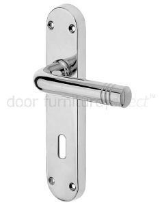 Porto Polished Chrome Lock Handles 183x40mm