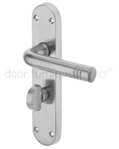 Porto Satin Chrome Bathroom Handles 183x40mm