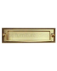 Polished Brass Georgian Postal Knocker Letter Plate 254x76mm
