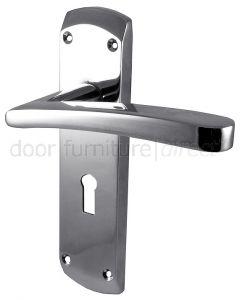Napoli Polished Chrome Lock Door Handles