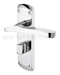 Napoli Polished Chrome Bathroom Door Handles