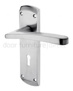 Napoli Satin Chrome Lock Door Handles