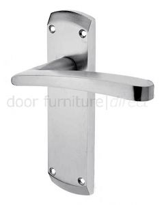 Napoli Satin Chrome Latch Door Handles