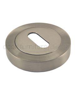 Satin Nickel key Escutcheon 50mm