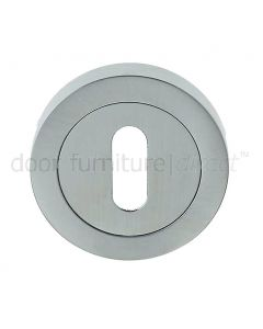 Satin Chrome Key Escutcheon 50mm