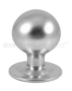 Satin Chrome Ball Centre Door Knob 3in