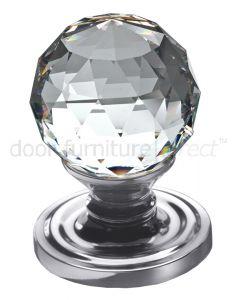 Swarovski Crystal Mortice Door Knobs 60mm