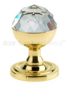 Swarovski Crystal Acorn Mortice Door Knobs 52mm