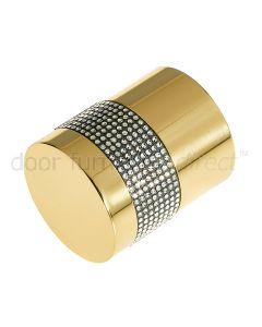 Swarovski Crystal Cylinder Mortice Door Knob Set 50mm