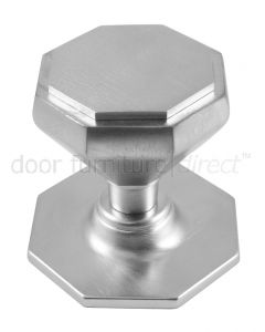 Satin Chrome Octagonal Centre Door Knob 67mm