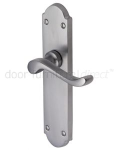Savoy Long Scroll Lever Satin Chrome Latch Door Handles
