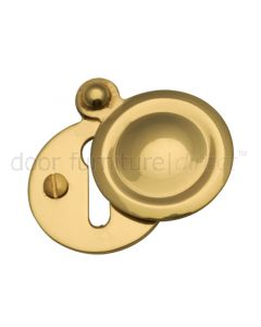 Polished Brass Plain Door Key Hole Escutcheon 33mm