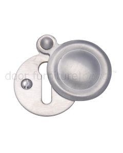 Satin Chrome Covered Key Hole Escutcheon 33mm