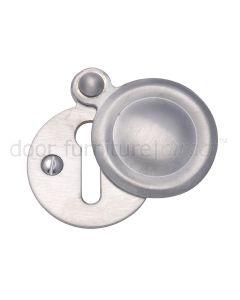 Satin Chrome Covered Key Hole Escutcheon 33mm