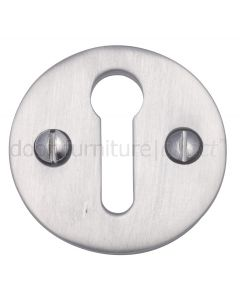 Satin Chrome Plain Escutcheon 32mm