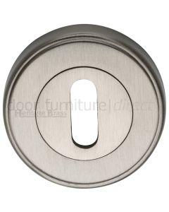 Satin Nickel Key Escutcheon 53mm