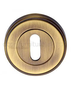 Antique Brass Key Escutcheon 53mm