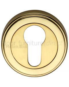 Polished Brass EURO Cylinder Escutcheon 53mm