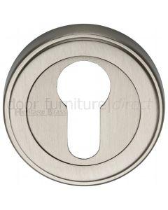 Satin Nickel EURO Cylinder Escutcheon 53mm