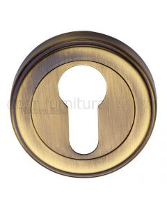 Antique Brass EURO Cylinder Escutcheon 53mm