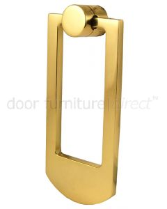 Polished Brass Contemporary Door Knocker 68x159mm