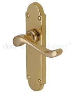 Savoy Scroll Lever Polished Brass Latch Door Handles