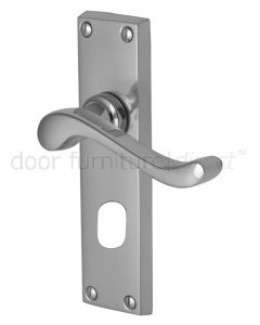 Bedford Scroll Lever Polished Chrome Oval Cylinder Door Handles