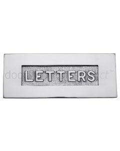 Polished Chrome Letter Box 10x4in (254x101mm) with Raised LETTERS