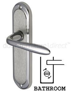 Henley Shaped Lever Dual Finish Chrome Bathroom Lock Door Handles