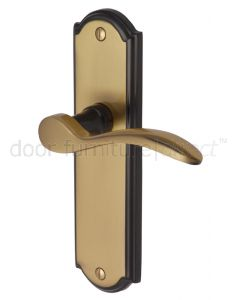 Howard Curved Lever Brass and Bronze Latch Door Handles