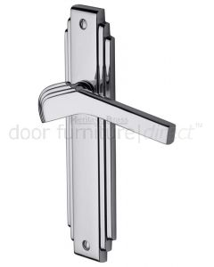 Tiffany Polished Chrome Art Deco Latch Handles