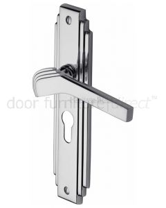 Tiffany Polished Chrome Art Deco 48mm EURO PROFILE Handles