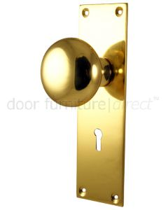 Heritage Balmoral Polished Brass Knob on Lock Plate