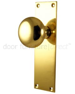 Heritage Balmoral Polished Brass Knob on Latch Plate