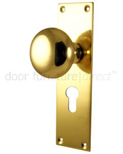 Heritage Balmoral Polished Brass Knob on 48mm EURO Plate
