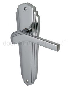 Heritage Brass Waldorf Chrome WAL6510PC Art Deco Latch Handles